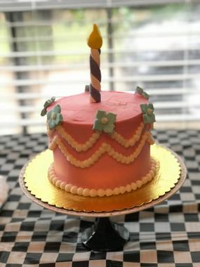 Pink Pearl Smash Cake