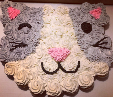 Kitty Wink Face Cupcakes