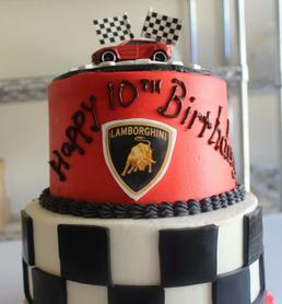 Lamborghini Race Car Birthday Cake