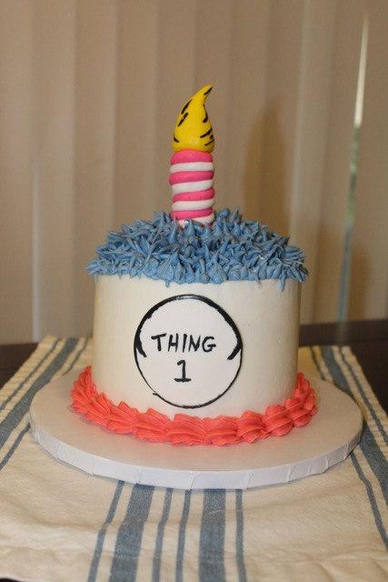Thing 1 Smash Cake