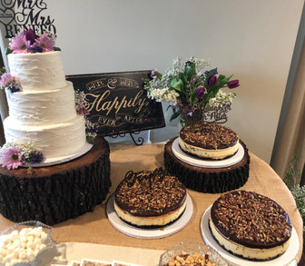Buttercream Cake and Pecan Pies