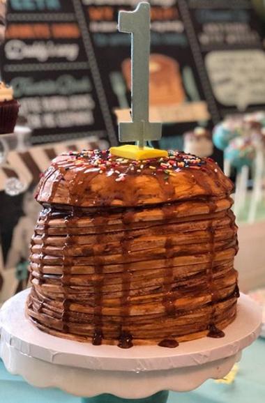 Pankcake Birthday Cake