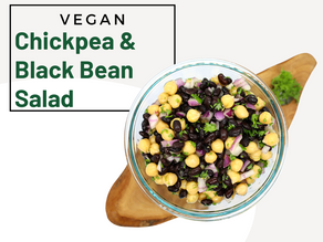 Chickpea & Black Bean Salad (Balela Salad)