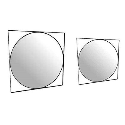 מראה טיימלס עגולה עם מסגרת