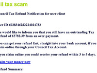 council tax scam - be aware