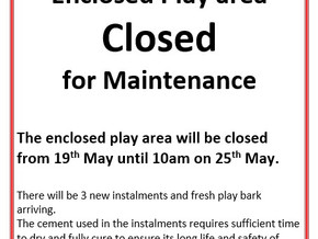 Enclosed play area closed