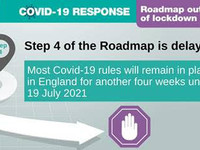 Covid roadmap Step 4 is delayed