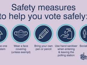 Remember your own pen / pencil, vote safely