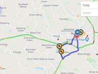 Essex highways traffic map