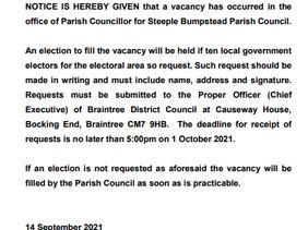 Casual Vacancy - Councillor