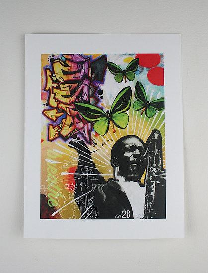 """""""Breathe"""" 2018  Collaborative Print - 11 x 8.5"""""""