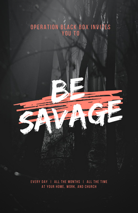 Be Savage Poster.png