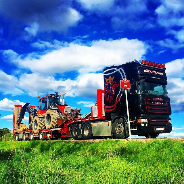 Transport av linjemaskin