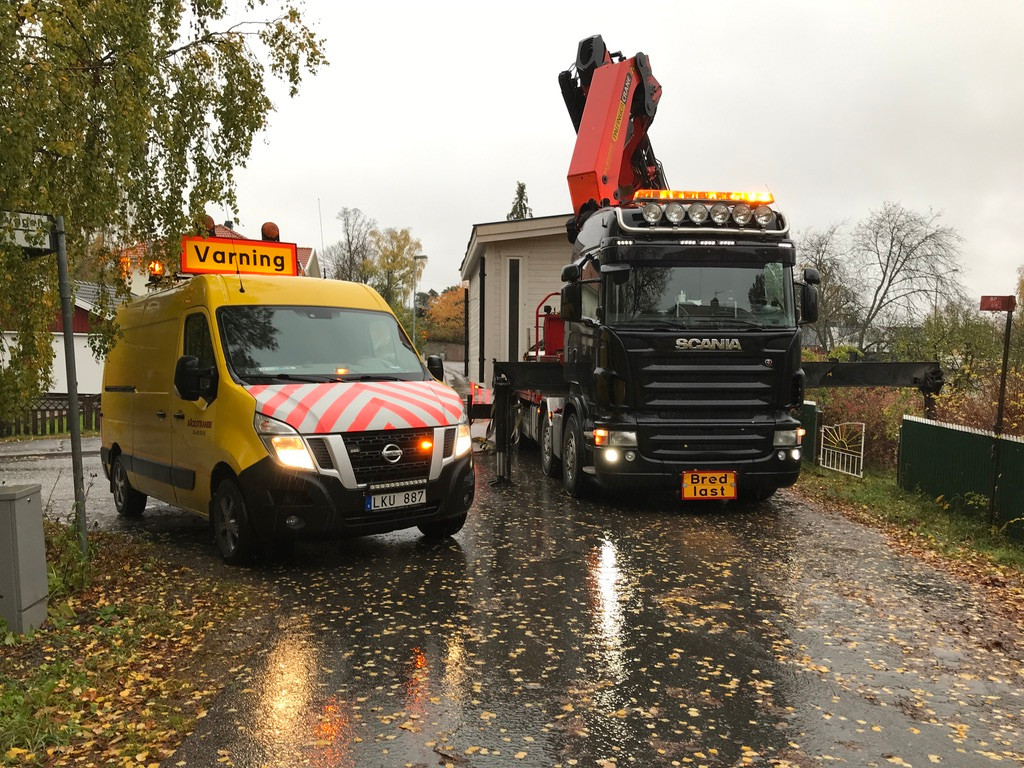 Transport av Attefallshus med Bodbil