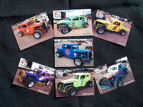Race Car Trading Cards