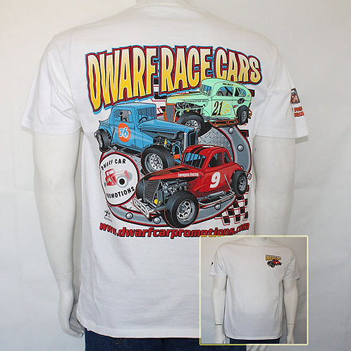 Dwarf Race Car T-Shirts (White)