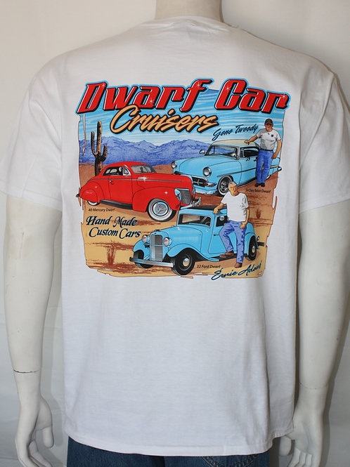 Dwarf Car Cruisers T-shirt - Three of a Kind (White)