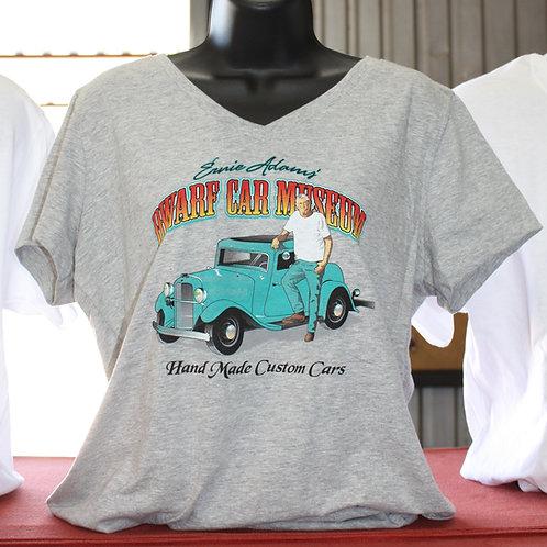 Woman's Dwarf Car Museum T-shirt  - (Gray)
