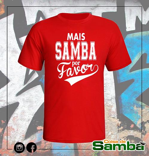 Mais samba por favor - Color Algodão