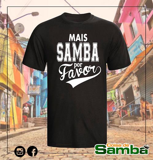 Mais samba por favor - Preta Algodão