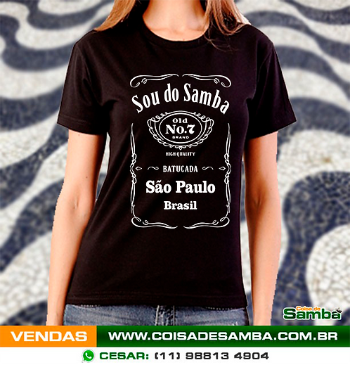 Sou do Samba - Algodão - Baby look