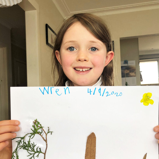 Wren and Her Collage