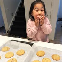 Eva Enjoying Her Cookies!