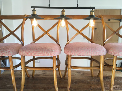 Traditional chair upholstery from Monteith Brown