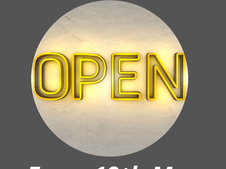 We're open INDOORS from 19th May