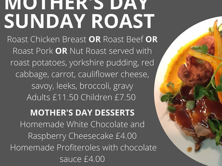 Sunday Roasts 14th March