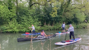 Celebrity Movember fundraisers on the Basingstoke canal
