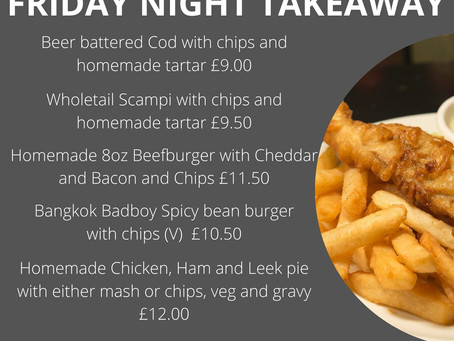 Friday Night Takeaway - Friday 5th March 5.30pm to 7.30pm