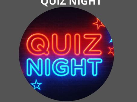 Quiz night - WEDNESDAY 4th AUGUST