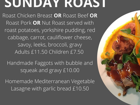 Sunday Roast Takeaway - 7th March 12-2pm