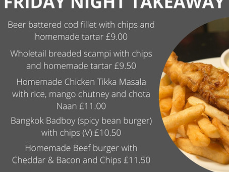 Friday night Takeaway - 19th February 5.30pm tp 7.30pm