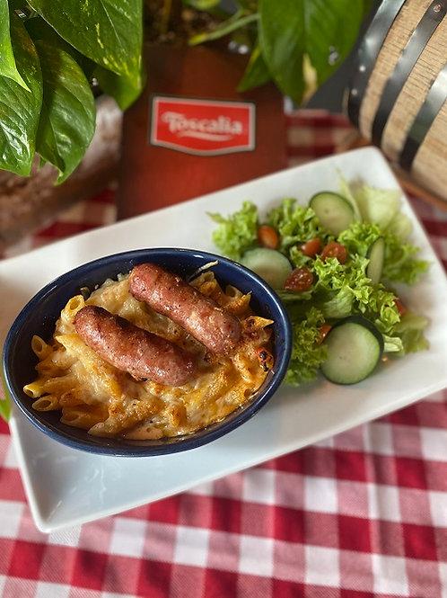 Pasta con salsiccia italiana