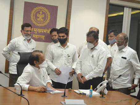 आज महाराष्ट्राचे उपमुख्यमंत्री ना. अजित पवार साहेब यांची मंत्रालयामध्ये  ग्रामविकासमंत्री....