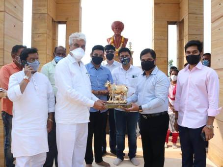महाराष्ट्र राज्याचे कृषी मंत्री ना. दादाजी भुसे यांनी आज तळसंदे, कोल्हापूर येथील डी.वाय. पाटील.....