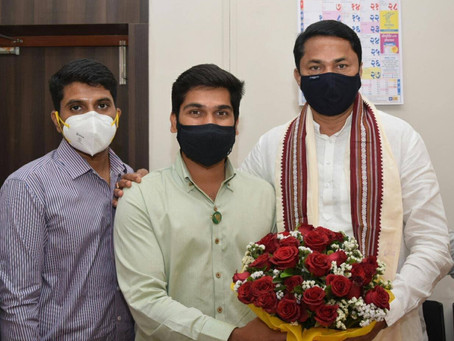 आदरणीय नाना पटोले साहेब यांची आज मुंबई येथे सदिच्छा भेट घेऊन आशीर्वाद घेतला.