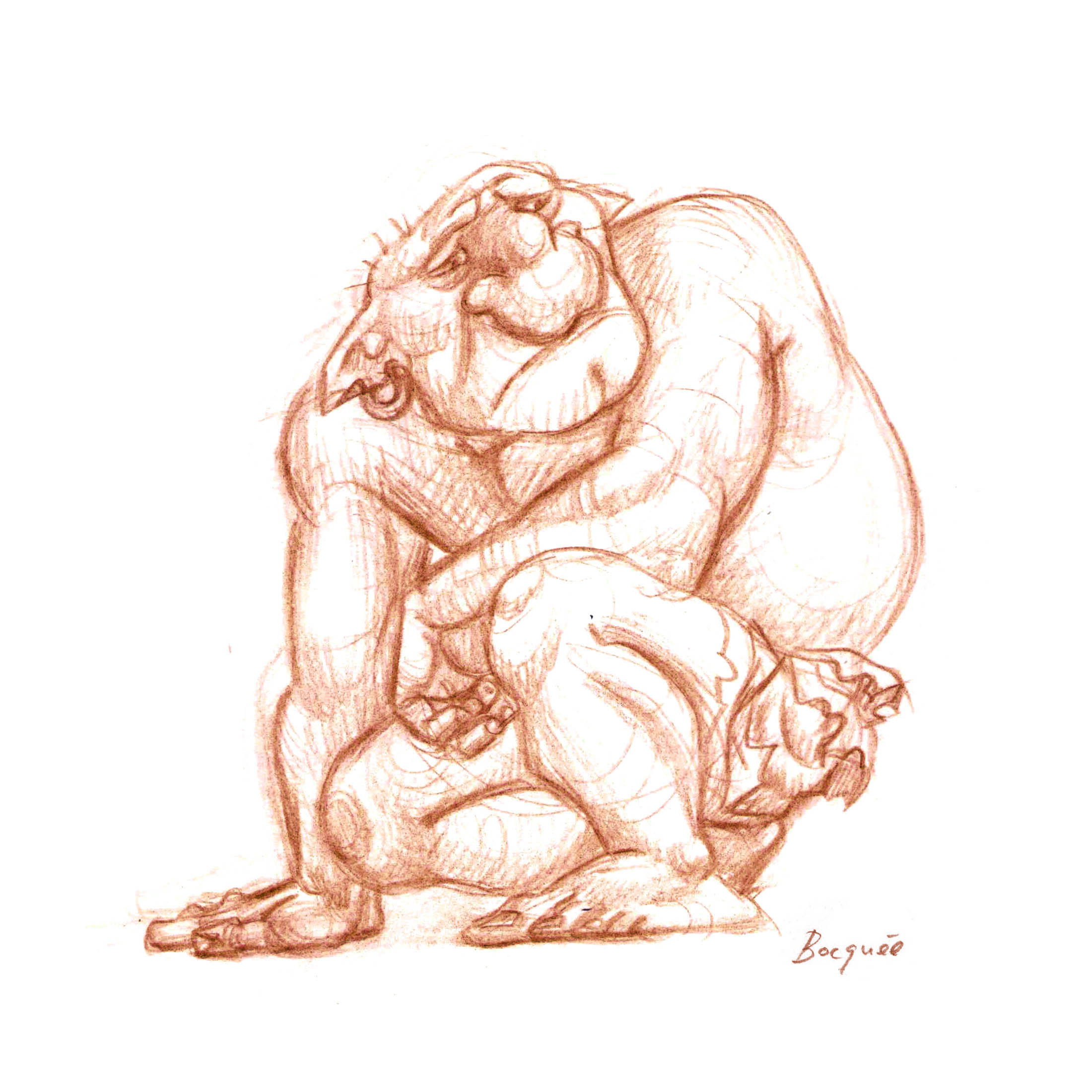Crouching ogre