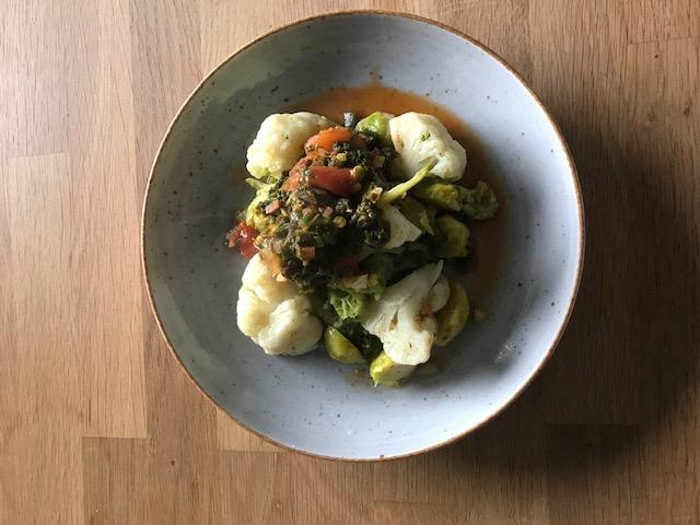 Gemüse mit Wirsingpesto