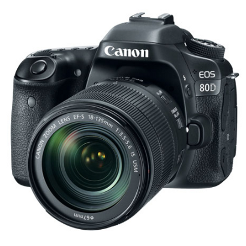 Canon EOS 80D 24.2 MP SLR w/18-135 IS STM