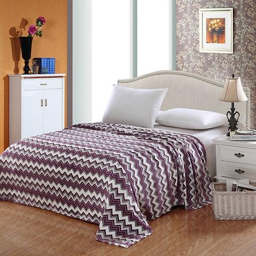Camessa Zig Zag Purple Blanket