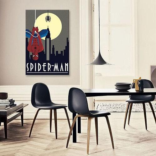 Spider-Man Minimalistic by Marvel Comics Canvas Print