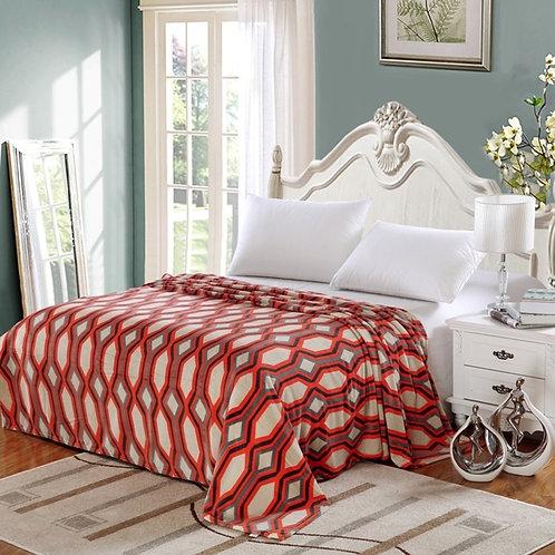 Lauren Orange Geometric Blanket