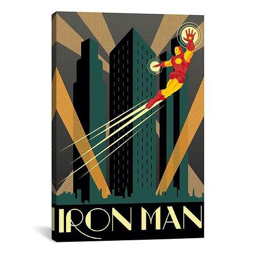 Iron Man Minimalistic Poster by Marvel Comics Canvas Print