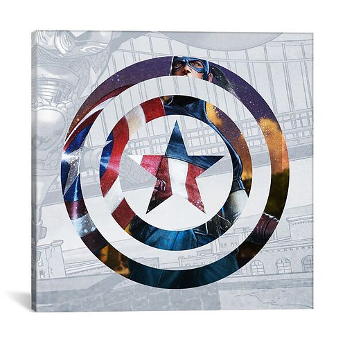 Captain's America Shield II by Marvel Comics Canvas Print