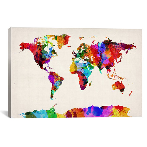 Map of The World (Abstract painting) II