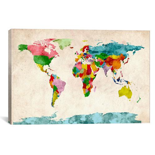 World Map Watercolors III
