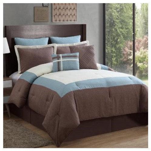 Amadora 8-Piece Comforter Set - Taupe